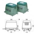 Габаритные размеры компрессора Hiblow HP-200