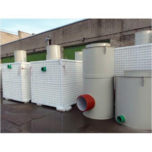 Станция очистки ливневых сточных вод от нефтепродуктов и взвешенных веществ